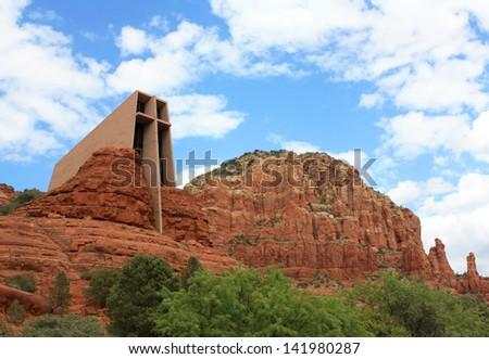 Chapel of the Holy Cross - Sedona, AZ - stock photo