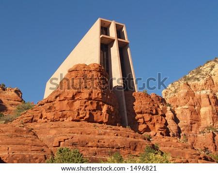 Chapel of the Holy Cross, Sedona AZ - stock photo
