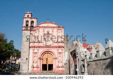 Chapel of the Third Order of St. Francis, Cuernavaca (Mexico) - stock photo