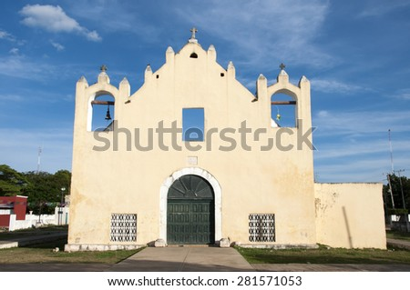 Chapelle in Yucatan,Mexico - stock photo