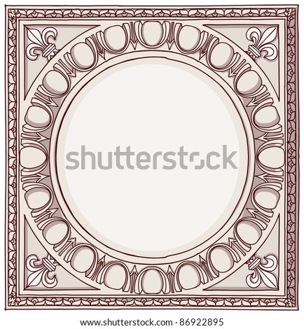 Chapiter- hand draw sketch doric architectural order. Bitmap copy my vector ID 84869038 - stock photo
