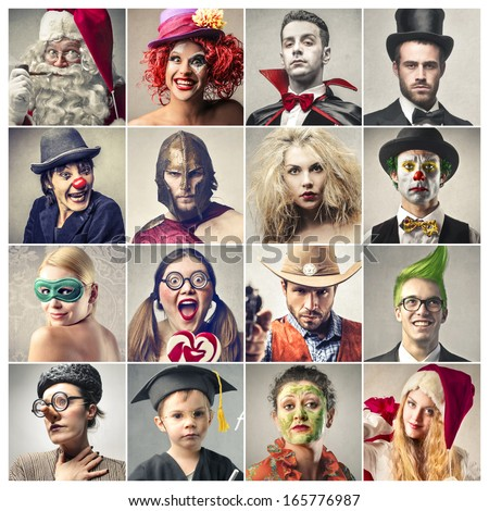 Characters - stock photo