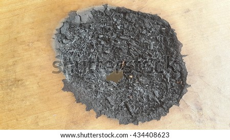 charcoal at table - stock photo