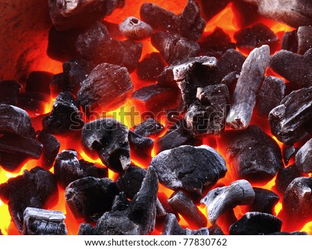 charcoal background - stock photo