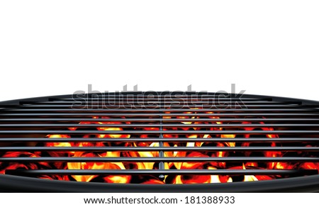 Charcoal Grill Close Up - stock photo