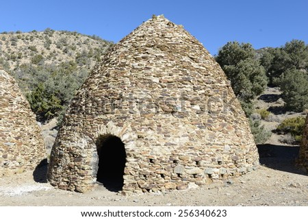 Charcoal kilns, Wildrose, Death Valley National Park, California - stock photo