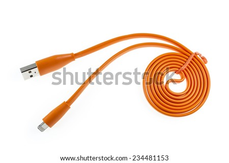 charging cable mobile phone - stock photo