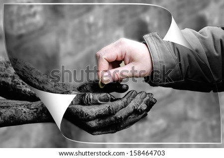 charity - stock photo