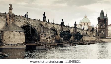 Charles bridge, Prague - stock photo