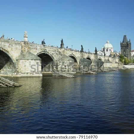 Charles bridge, Prague, Czech Republic - stock photo