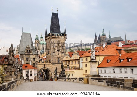 Charles bridge Prague, Czech republic - stock photo