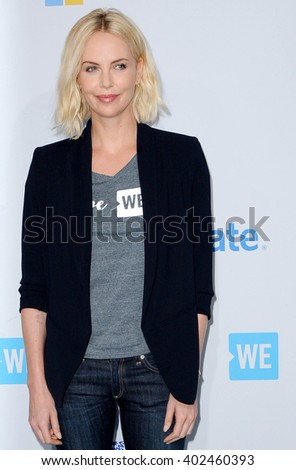 Charlize Theron at the WE Day California held at the Forum in Inglewood, USA on April 7, 2016. - stock photo