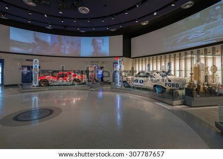 CHARLOTTE - AUGUST 18: NASCAR Hall of Fame. Opened in 2010 it honors drivers who have shown exceptional skill at NASCAR driving, all-time great crew chiefs and owners. NC August 18, 2015. - stock photo
