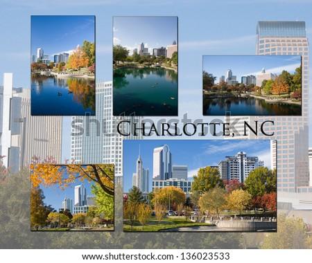 Charlotte, NC Collage - stock photo