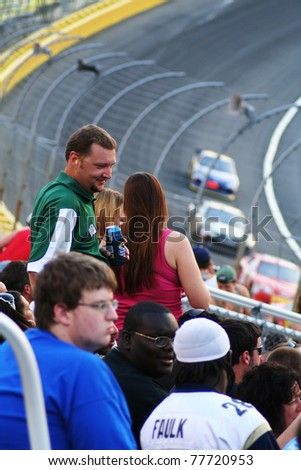 CHARLOTTE, NC - May 21, 2011: Charlotte Motor Speedway. NASCAR Sprint All-Star race, won by Carl Edwards on May 21, 2011in Charlotte, North Carolina. - stock photo