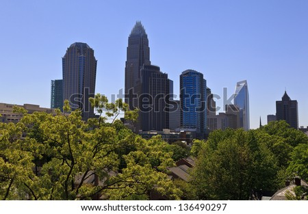 Charlotte Skyline - stock photo