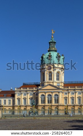Charlottenburg Palace is the largest palace in Berlin and the only surviving royal residence in the city - stock photo