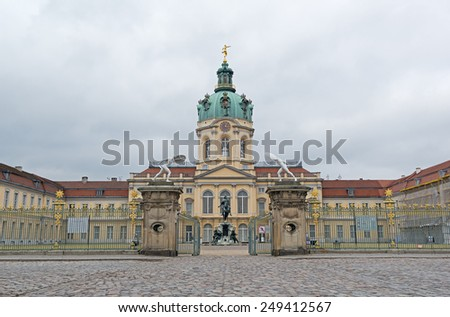 Charlottenburg Palace (Schloss Charlottenburg), famous tourist destination in Berlin, Germany, Europe - stock photo