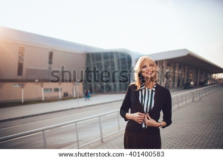charming creative young girl posing for the camera - stock photo