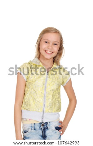 Charming girl showed herself in the photos in all her glory - stock photo