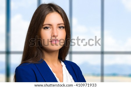 Charming secretary portrait - stock photo