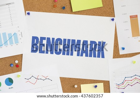 CHART BUSINESS GRAPH RESULT COMPANY BENCHMARK CONCEPT - stock photo