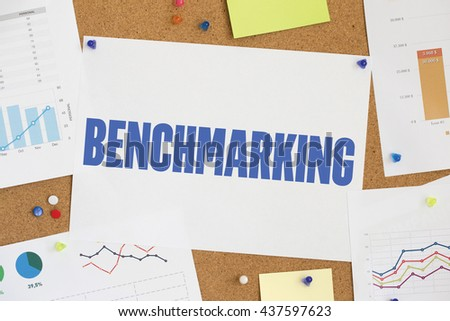 CHART BUSINESS GRAPH RESULT COMPANY BENCHMARKING CONCEPT - stock photo
