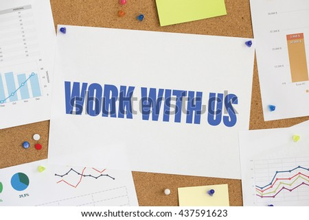 CHART BUSINESS GRAPH RESULT COMPANY WORK WITH US CONCEPT - stock photo