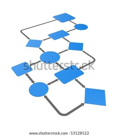 Chart diagram - stock photo