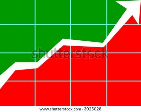 chart upward trend - stock photo
