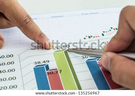 chart with brainstorming - stock photo