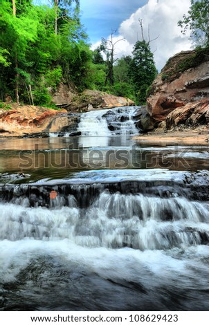 Chartakarn Waterfall inthailand. - stock photo
