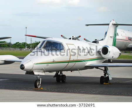 Charter jet for business and corporate travel - stock photo