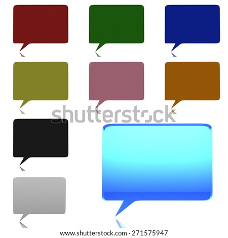 Chat bubble on white background (high resolution 3D image) - stock photo