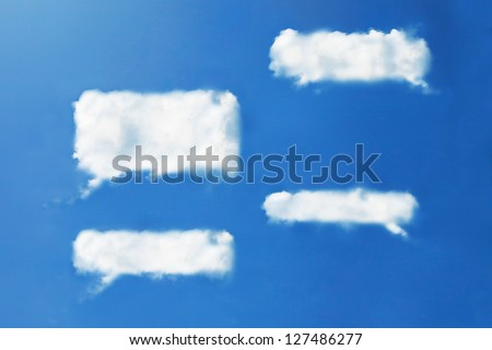 Chat clouds shape form - stock photo