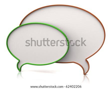 Chat icon - stock photo