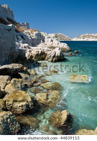 Chateau d'If Shoreline - stock photo