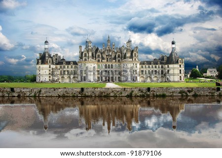 Chateau de chambord, loire valley, france - stock photo