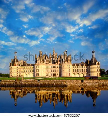 Chateau de Chambord, Loire Valley, France, UNESCO - stock photo
