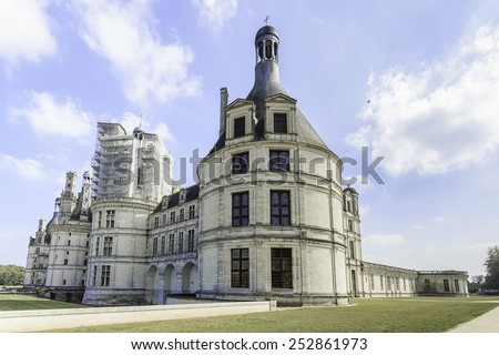 Chateau de Chambord,Loire Valley, French - stock photo