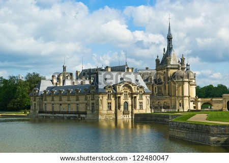 Chateau de Chantilly ( Chantilly Castle ), Oise, Picardie, France - stock photo