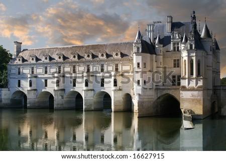 Chateau de Chenonceau Loire Valley France - stock photo