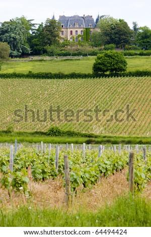 Chateau de la Saule, Burgundy, France - stock photo