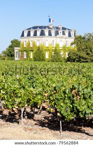 Chateau de la Tour, By, Bordeaux Region, France - stock photo
