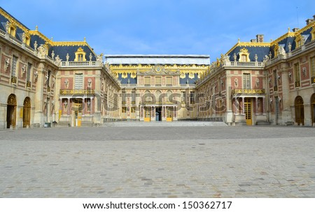Chateau de Versailles fa�§ade - France - stock photo