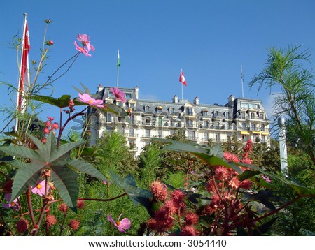 Chateau in Lausanne Switzerland - stock photo