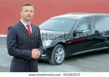 chauffeur - stock photo