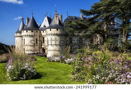 Chaumont-sur-Loire castle. France. Chateaux of the Loire Valley. - stock photo