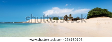 Chaves beach Praia de Chaves in Boavista Cape Verde - Cabo Verde - stock photo