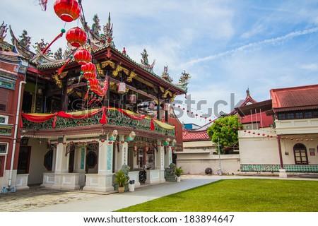 Cheah kongsi temple at penang, world heritage site , Malaysia - stock photo
